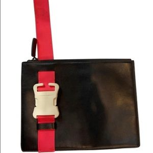 Christopher Kane safety leather clutch